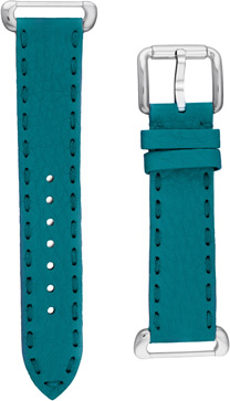 Fendi Turquoise Fendi Selleria Leather  Watch Bands Watch Model: SSN18RB3S