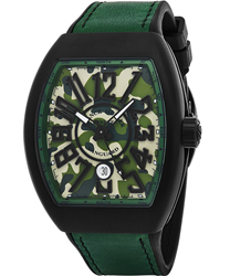 Franck Muller Vanguard  Men's Watch Model V 45 SC DT TT NR MC VE CAMOUFLAGE