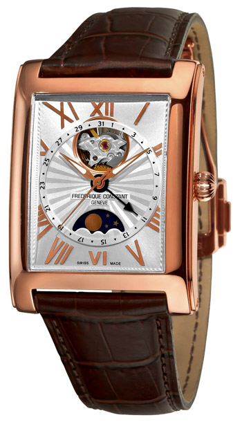 Frederique Constant Carree Automatic Moonphase and Date Mens Wristwatch Model: FC-335MS4MC4