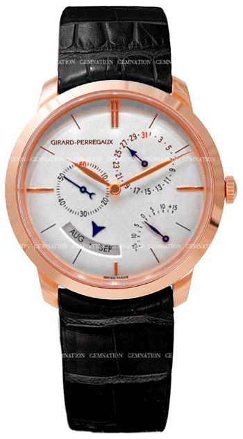 Girard-Perregaux 1966 Annual Calendar Mens Wristwatch Model: 49538-52-131-BK6A