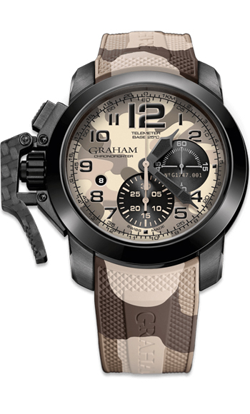 Graham Chronofighter Oversize Black Arrow Men's Watch Model 2CCAU.E03A.K110N