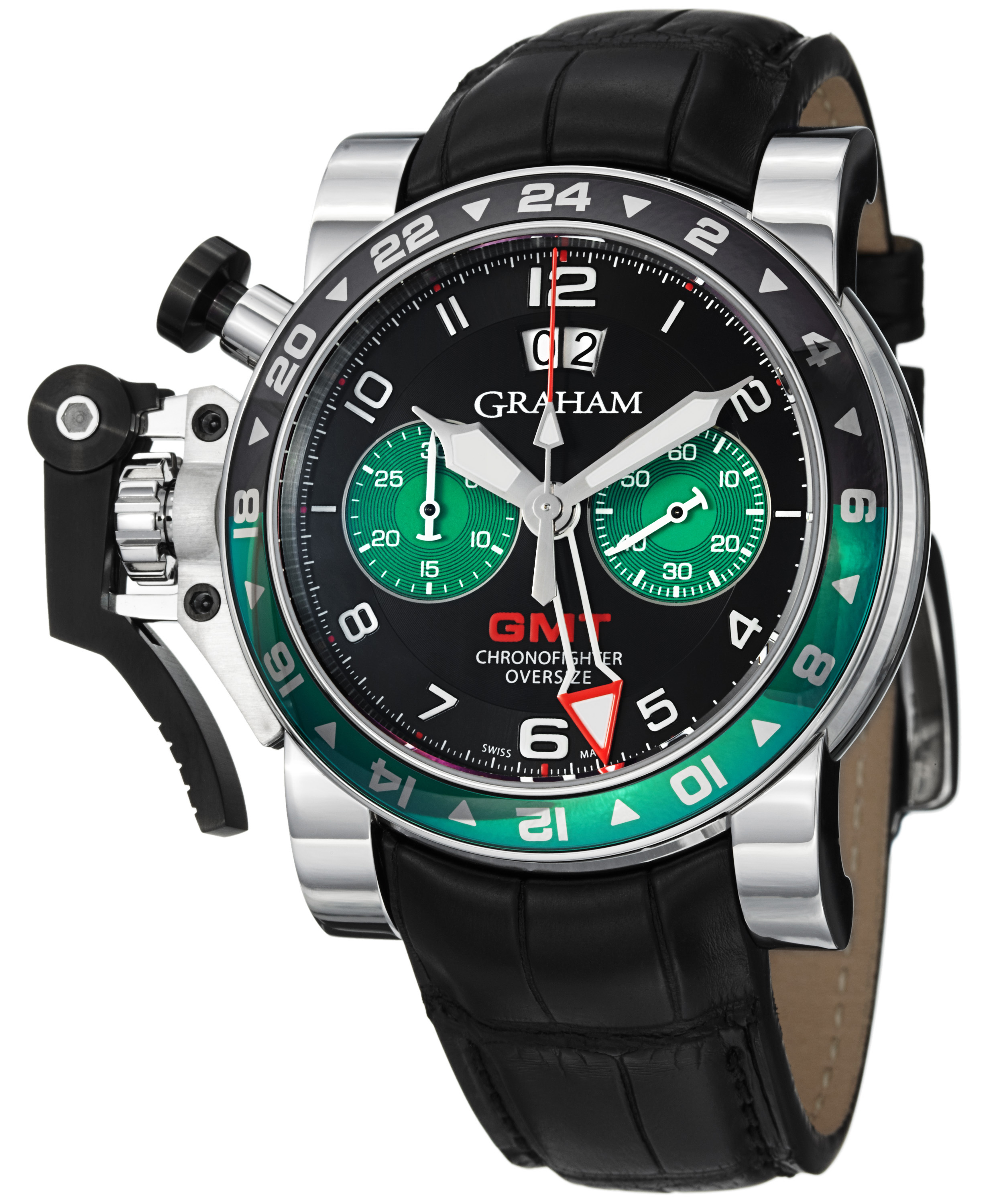 gr watches stockist quilt graham watch collections black chronofighter leather target official uk