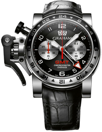 Graham Chronofighter Oversize GMT Steel  Mens Wristwatch Model: 2OVGS.B39A
