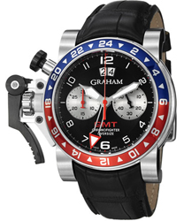 Graham  Chronofighter Oversize GMT Steel Mens Watch Model 2OVHS.B39A