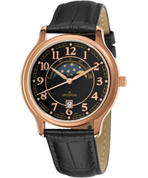 Grovana Moonphase Mens Wristwatch