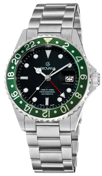Grovana GMT Diver Men's Watch Model 1572.2134