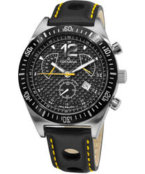 Grovana Retrograde Chronograph Mens Wristwatch