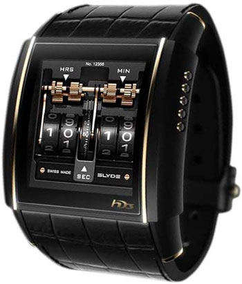 HD3 Slyde Mens Wristwatch Model: HD3SLYDERGBLCK