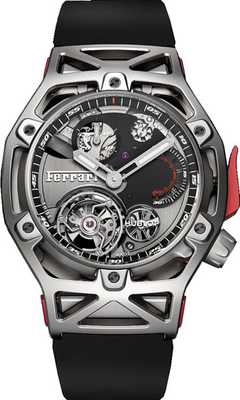 hublot techframe ferrari tourbillon chronograph men 39 s watch model 408. Black Bedroom Furniture Sets. Home Design Ideas