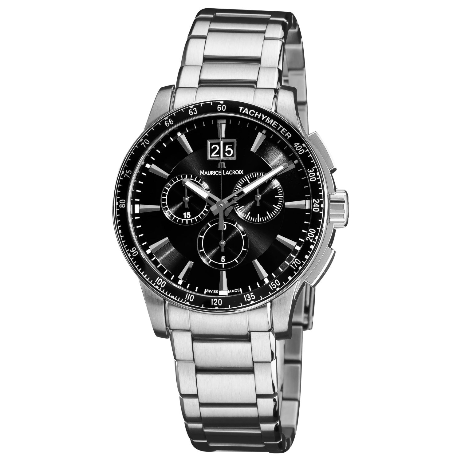 Maurice lacroix miros chronograph men 39 s watch model mi1098 ss042330 for Maurice lacroix watches