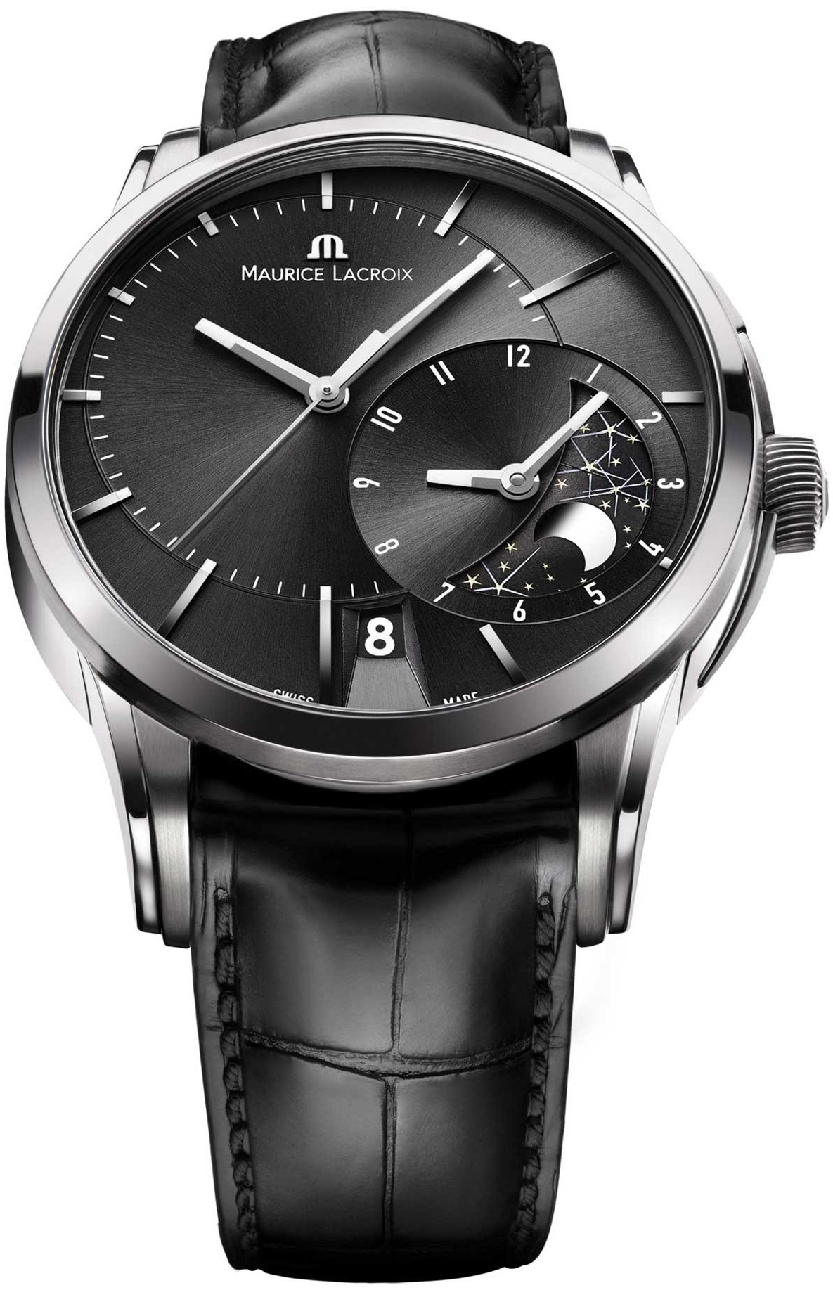Maurice lacroix pontos decentrique gmt men 39 s watch model pt6118 ss001331 for Maurice lacroix watches