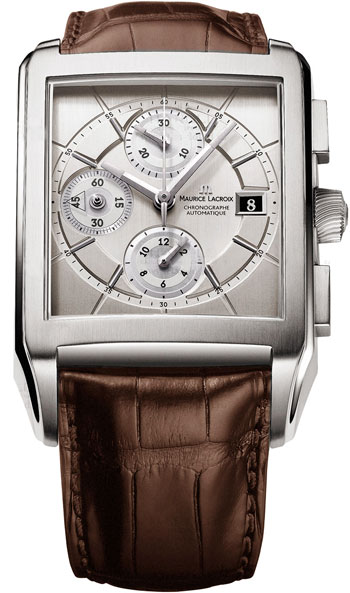 Maurice Lacroix Pontos Rectangulaire Chronograph Mens Wristwatch Model: PT6197-SS001-130