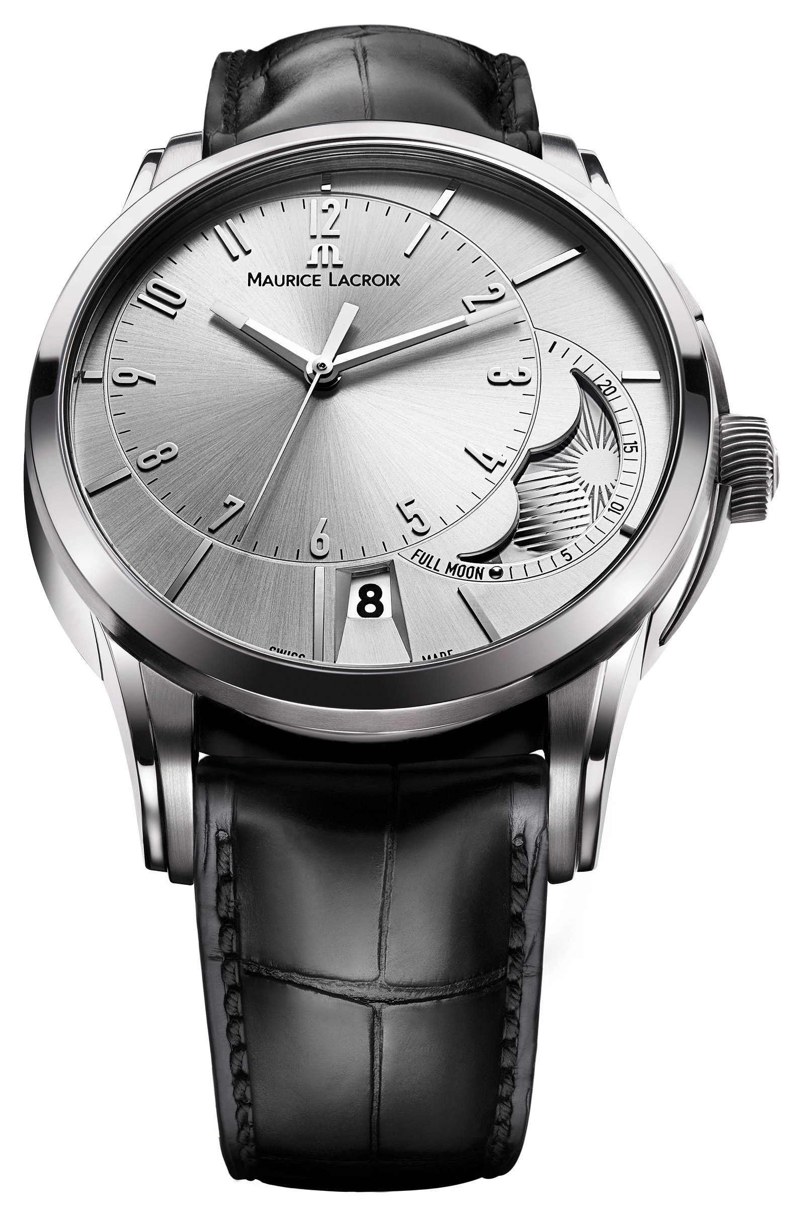 Maurice lacroix pontos decentrique men 39 s watch model pt6318 ss001 130 for Maurice lacroix watches