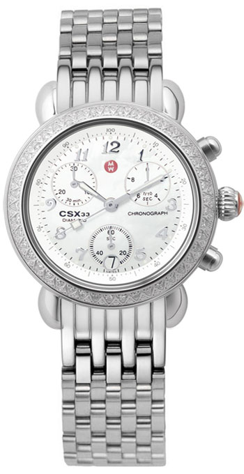 6220415a9 Michele Watch CSX 33 Diamond Ladies Watch Model: MWW03B000048