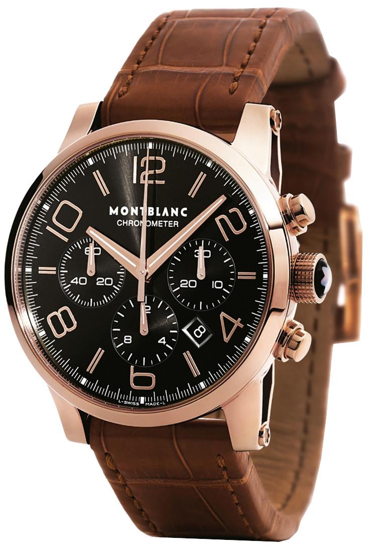 le new industry into introduces watches bronze montblanc chronograph tachymeter wristwatch mount black collection news standing
