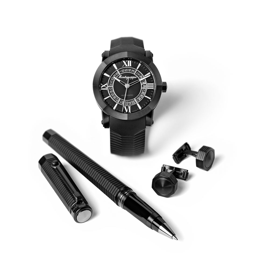 Montegrappa Nero Uno Limited Edition Set Men's Watch Model IDNLWSBK Thumbnail 2
