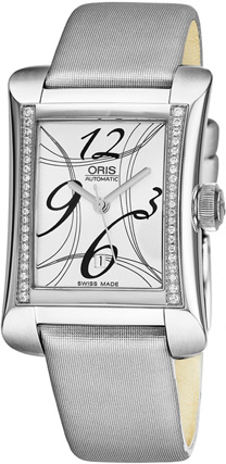 Oris Rectangular Ladies Watch Model 56176214961LS74
