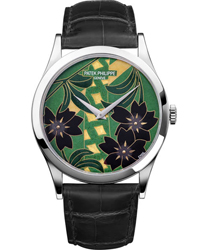 Patek Philippe Enamel Artwork Dial Unisex Watch Model: 5077P-096