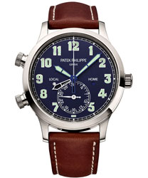 Patek Philippe Calatrava Pilot Travel Time Men's Watch Model: 5524G-001