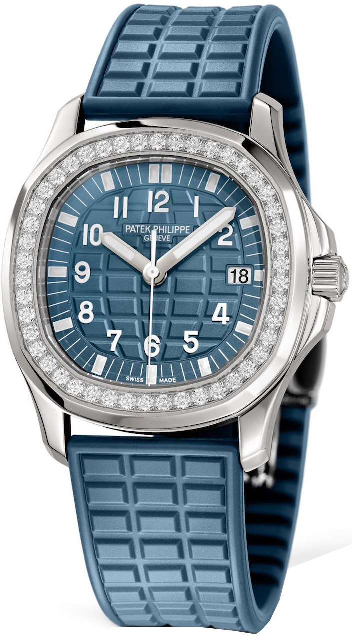 Patek philippe aquanaut quartz ladies watch model 5067a 025 for Patek philippe women