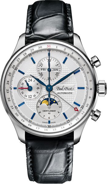 Paul Picot Gentleman Chrono Moonphase Mens Wristwatch Model: P2033.SG.7203