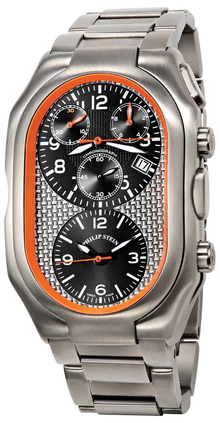 Philip stein prestige chronograph men 39 s watch model 13ti 500b tss for Philip stein watches