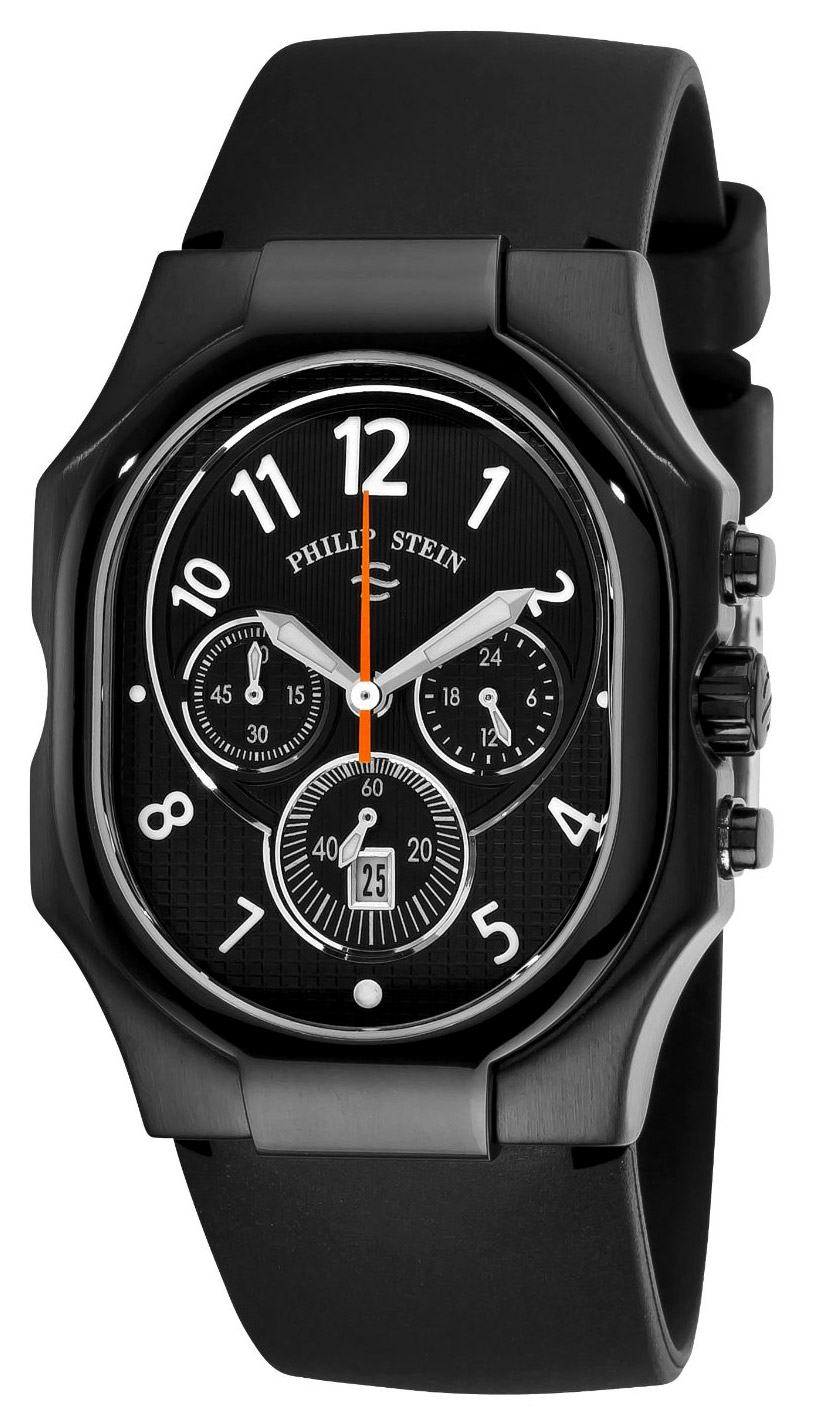 Philip stein classic chronograph men 39 s watch model 23b nbo rb for Philip stein watches