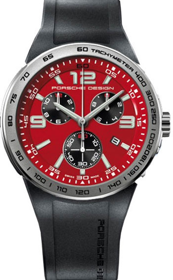 Porsche Design Flat Six Quartz Chronograph Men S Watch Model 6320 4184 1168