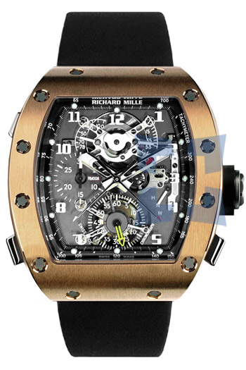 Richard Mille RM 008 Tourbillon Split Seconds Chronograph Mens Wristwatch Model: RM008-V2-RG