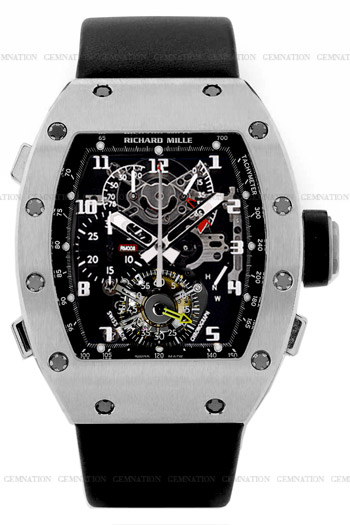 Richard Mille RM 008 Tourbillon Split Seconds Chronograph Mens Wristwatch Model: RM008-V2-Ti