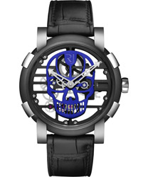 Romain Jerome Skylab 48 Speed Metal Blue Skull Men's Watch Model RJ.M.AU.030.17