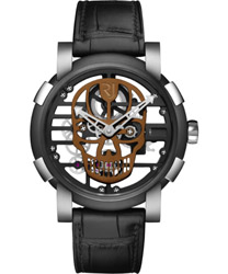 Romain Jerome Skylab 48 Speed Metal Brown Skull Men's Watch Model: RJ.M.AU.030.18