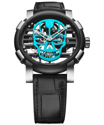 Romain Jerome Skylab 48 Speed Metal Cyan Skull Men's Watch Model RJ.M.AU.030.16