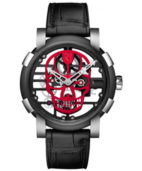 Romain Jerome Skylab 48 Speed Metal Red Skull Men's Watch Model RJ.M.AU.030.12