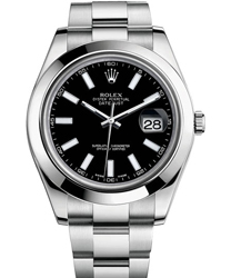Rolex Datejust Men's Watch Model 116300-0001-BLKSTK