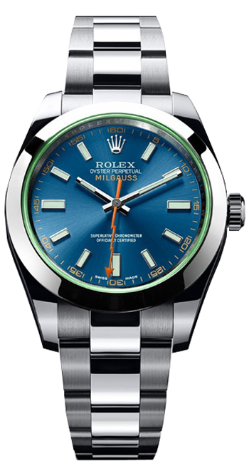 Rolex Milgauss Men's Watch Model 116400-GV-BLU