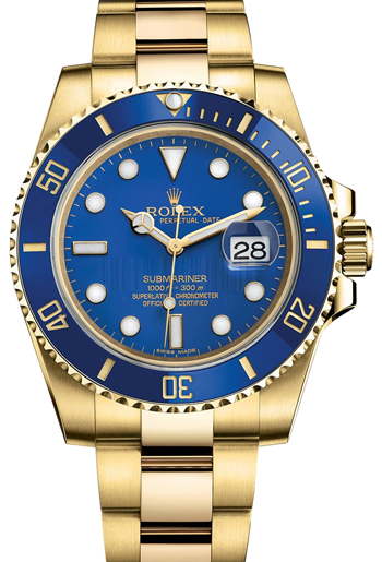 Rolex Submariner Men's Watch Model 116618LB-BLU