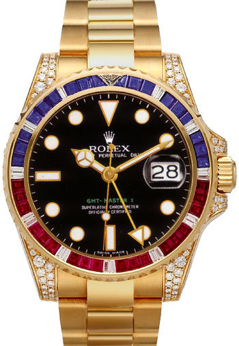 rolex gmt master ii men 39 s watch model 116758 saru. Black Bedroom Furniture Sets. Home Design Ideas