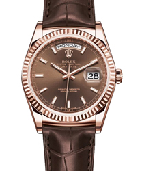 Rolex Day-Date President Men's Watch Model 118135-BROWN