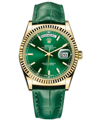 Rolex Day-Date President Men's Watch Model 118138-GREEN