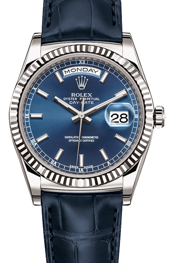 Rolex Day-Date President Men's Watch Model 118139-BLU