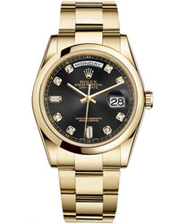 Rolex Day-Date Men's Watch Model 118208-BLACDIA