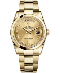 Rolex Day-Date Men's Watch Model 118208-CHARO
