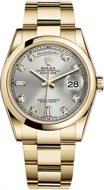Rolex Day-Date Men's Watch Model 118208-SILDIA