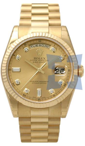 rolex day date president 36mm men s watch model 118238ygcd rolex day date president 36mm men s watch