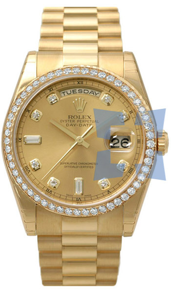 Rolex  Mens Wristwatch Model: 118348YGCD-DB