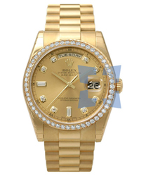 Rolex Day-Date President Men's Watch Model 118348YGCD-DB