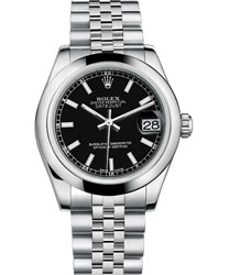 Rolex Datejust Ladies Watch Model 178240-BLACK-STICK
