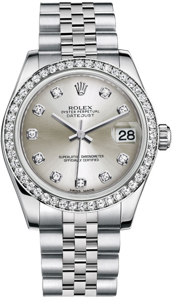 Rolex Datejust Ladies Watch Model 178384-SIL-DIA