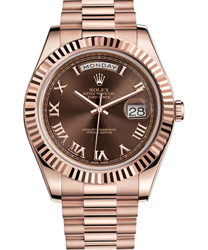 Rolex Day-Date II President Mens Watch Model 218235-RO-BRN